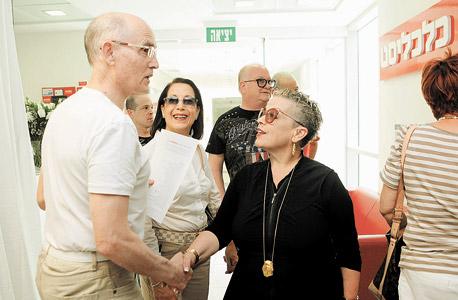 """חנה פריזן ורו""""ח משה גרוס, צילום: אוראל כהן"""