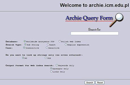 ארצ'י, מנוע החיפוש הראשון