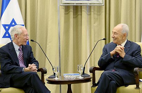 סטנלי פישר והנשיא פרס (ארכיון)