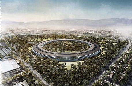 הדמיית משרדי אפל המתוכננים בקליפורניה