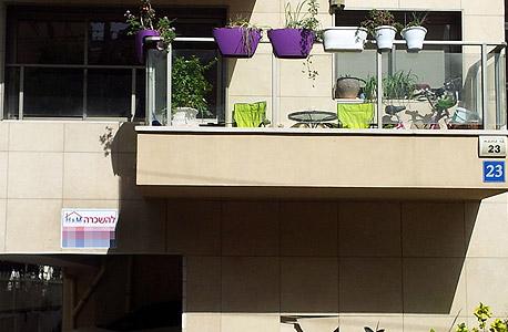 דירה להשכרה (ארכיון). שיעור הממשקיעים גבוה יותר בקרב המתגוררים בשכירות - במיוחד בעשירונים תחתונים, צילום: דוד הכהן