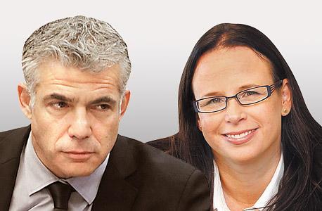 מימין יעל אנדורן ו יאיר לפיד, צילום: אוראל כהן