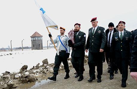 פנאי בני גנץ טקס מצעד החיים אושוויץ, צילום: יוסי זליגר