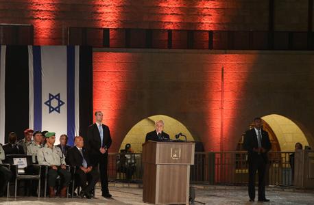 """שמעון פרס בטקס יום הזיכרון לחללי צה""""ל, צילום: עמית שאבי"""