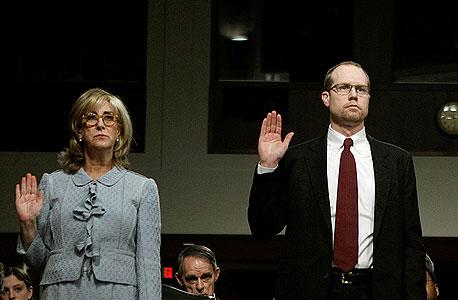 אינה דרו ופיטר וויילנד, מנהל הסיכון הראשי ג'יי. פי מורגן, מוסרים עדות בפרשת ברונו איקסיל