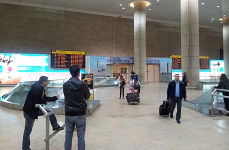 The arrival hall at Ben-Gurion Airport. Photo: David HaCohen