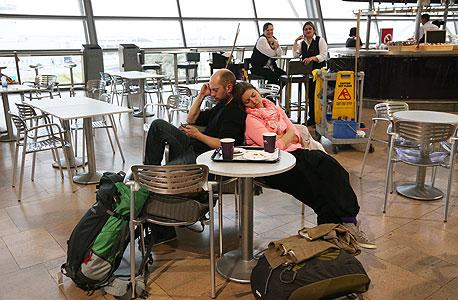 """שביתת חברות התעופה הישראליות נתב""""ג אפריל 2013, צילום: שאול גולן"""