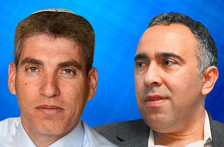הנאמנים אייל גבאי (מימין) וחגי אולמן, צילום: עמית שעל ישראל הדרי