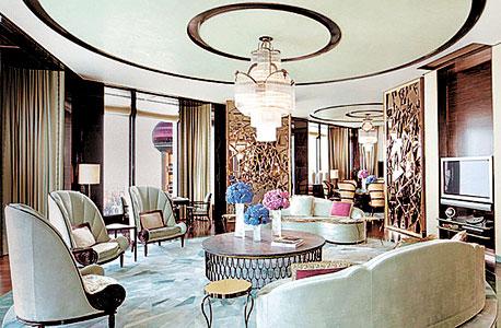 מתוך הסוויטה היוקרתית במלון בשנגחאי