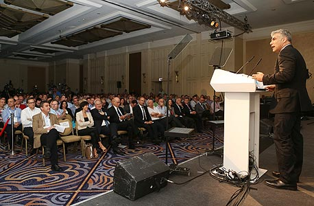 יאיר לפיד ועידה הוועידה לעסקים קטנים ובינוניים, צילום: נמרוד גליקמן