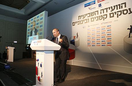 נפתלי בנט ועידה הוועידה לעסקים קטנים ובינוניים, צילום: נמרוד גליקמן