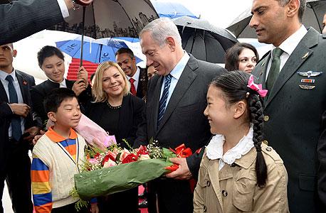 """פנאי ראש הממשלה בנימין נתניהו ורעייתו שרה מתקבלים ב שנחאי סין וביקור בתערוכת טכנולוגיה, צילום: אבי אוחיון לע""""מ"""