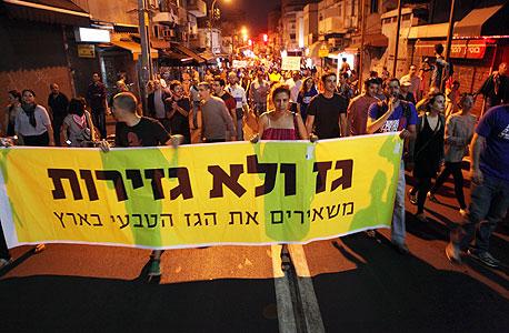 הפגנה נגד יצוא הגז