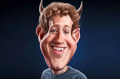 """איור סאטירי של מנכ""""ל פייסבוק, שפורסם לאחר שינוי נהלי הפרטיות באתר לפני שנתיים"""