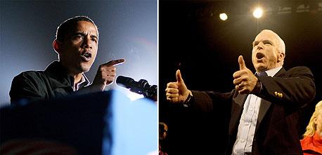 ג'ון מקיין ו ברק אובמה בחירות קלפי ארהב ארצות הברית נשיא, צילום: בלומברג