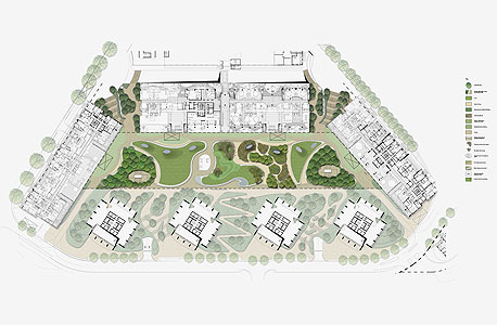 """התכנית של שוורץ לפארק בפרויקט גינדי תל אביב בשוק הסיטונאי. """"לא נתנו לנו להיות מעורבים ביישום"""""""