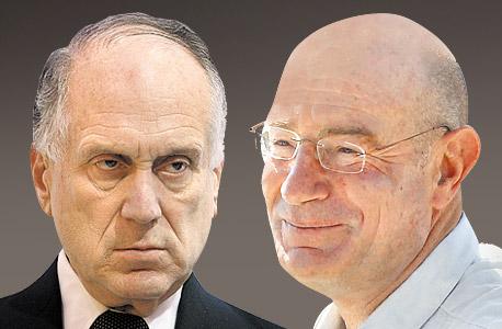 מימין ארנון מילצ'ן ו רון לאודר, צילום: גיל נחושתן, עמית שעל