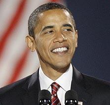 הנשיא הנבחר אובמה. IN