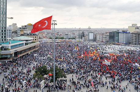 הפגנות באיסטנבול ביוני האחרון, צילום: איי אף פי