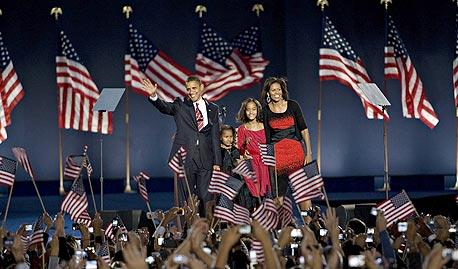 ברק אובמה עם משפחתו, צילום: בלומברג