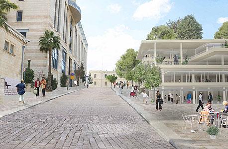 הדמיית קמפוס בצלאל החדש  במגרש הרוסים בירושלים
