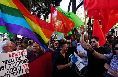 עצרת מחאה בעקבות הרצח (ארכיון)