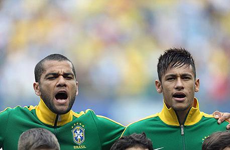 נבחרת ברזיל ניימאר דני אלבש, צילום: אי פי איי