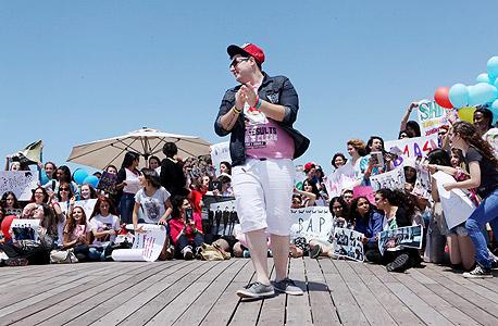 הקייפופיסט חיים הרצוג בכנס בנמל תל אביב בחודש שעבר. חולם להתקבל ללימודי מזרח אסיה ולנסוע לקוריאה