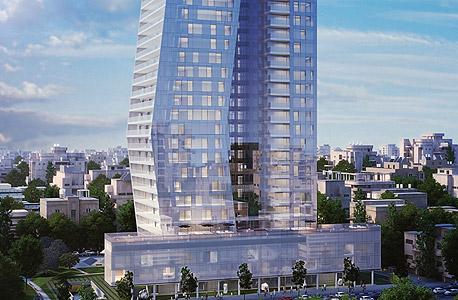 הדמיית מגדל ארלוזורוב 17  תל אביב מגדלים