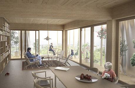 מגדל עץ שטוקהולם שבדיה, הדמייה: Dezeen