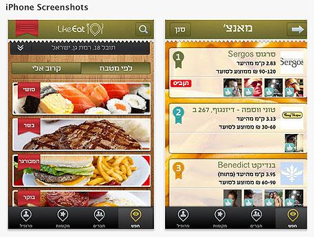 מדריך אפליקציות מסעדות like it