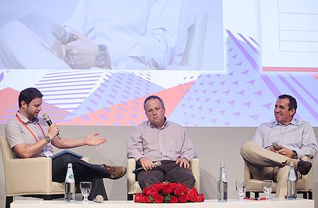 איל וולדמן וזאבי ברגמן בפאנל טכנולוגיה, צילם: אוראל כהן