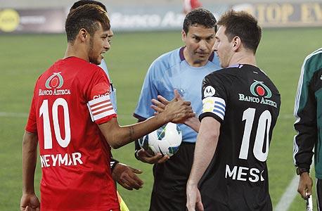 ניימאר מסי משחק ידידות, צילום: רויטרס