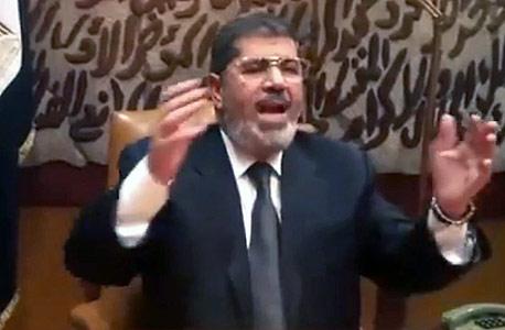 נשיא מצרים לשעבר מוחמד מורסי בנאום ב-2013