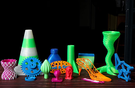 מוצרים שהודפסו בטכנולוגיית Something3D