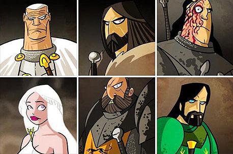 גרסאות מצוירות של גיבורי הסדרה