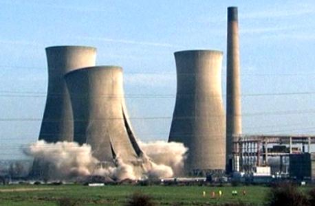 רגע הפיצוץ בתחנת הכוח ריצ'בורו באנגליה