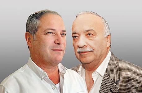 מימין אליעזר פישמן ו בנצי ליברמן, צילום: אוראל כהן, נחום ברנע