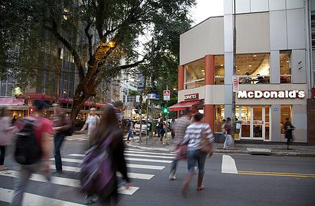 מקדונלד'ס ריו דה ג'נרו ברזיל, צילום: בלומברג