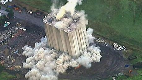 הסילו שפוצץ באוסטרליה. הכל פעל כמתוכנן אבל המבנה לא קרס