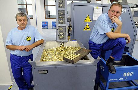מפעל לייצור מטבעות יורו בסלובקיה (ארכיון)