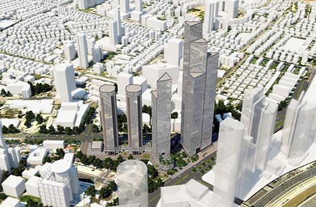 מגדל קרן הקרייה שרונה תל אביב, הדמיה: א.י. אדריכלות ובינוי ערים יצחק חלפון