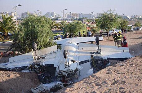 מטוס התרסק באילת: אדם נהרג ושניים נפצעו
