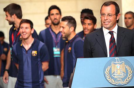 סנדרו רוסיי ליאו מסי נשיא ברצלונה כוכב ברצלונה, צילום: אי פי איי