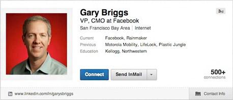 """גארי בריגס סמנכ""""ל שיווק פייסבוק"""