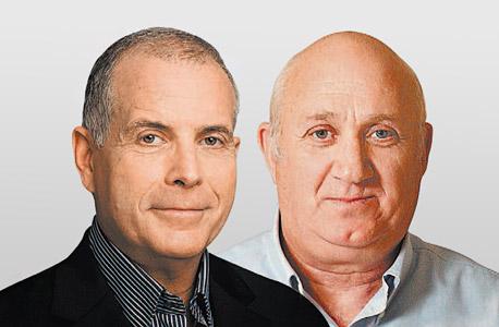 מימין איציק אברכהן ו רפי ביסקר שופרסל, צילום: אוראל כהן, יונתן בלום