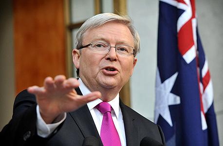 """ראש ממשלת אוסטרליה, קווין ראד. """"אני מעוניין לבנות אוסטרליה שבה כל אם ואב חשים בטוחים כשהם שולחים את הילדים שלהם לבית הספר, שכולם שם מחוסנים"""""""