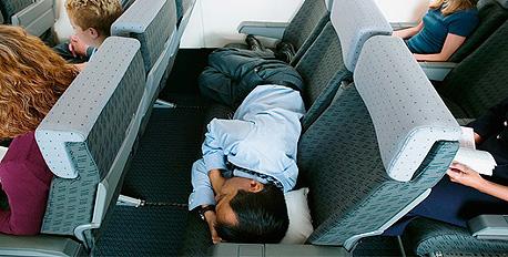 טיסה יכולה להיות דבר מתיש
