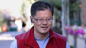 """ג'רי יאנג מנכ""""ל יאהו לשעבר יולי 2008, צילום: בלומברג"""