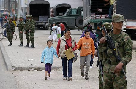 חיילים ברחובות בוגוטה בסוף השבוע, בעקבות מחאת האיכרים, צילום: איי פי